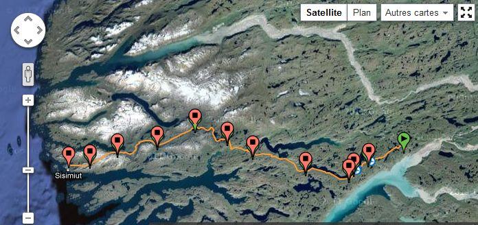Arctic Circle Race map satellite