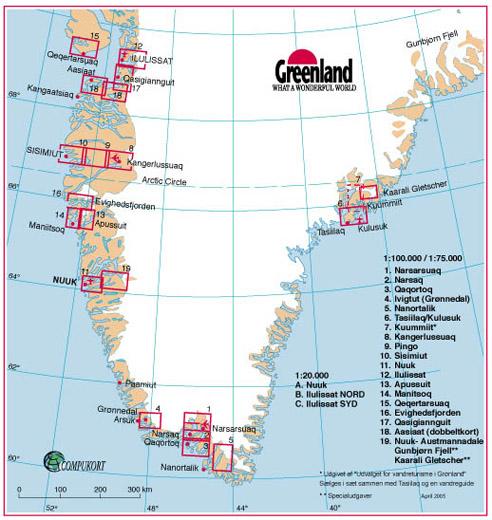 Cartes rando Groenland