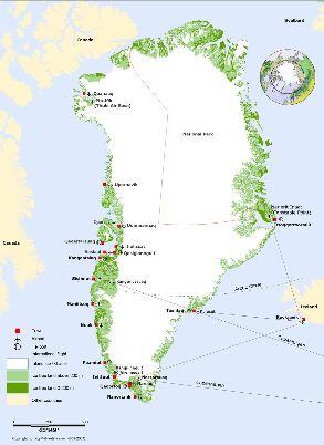 Map Greenland big vierge