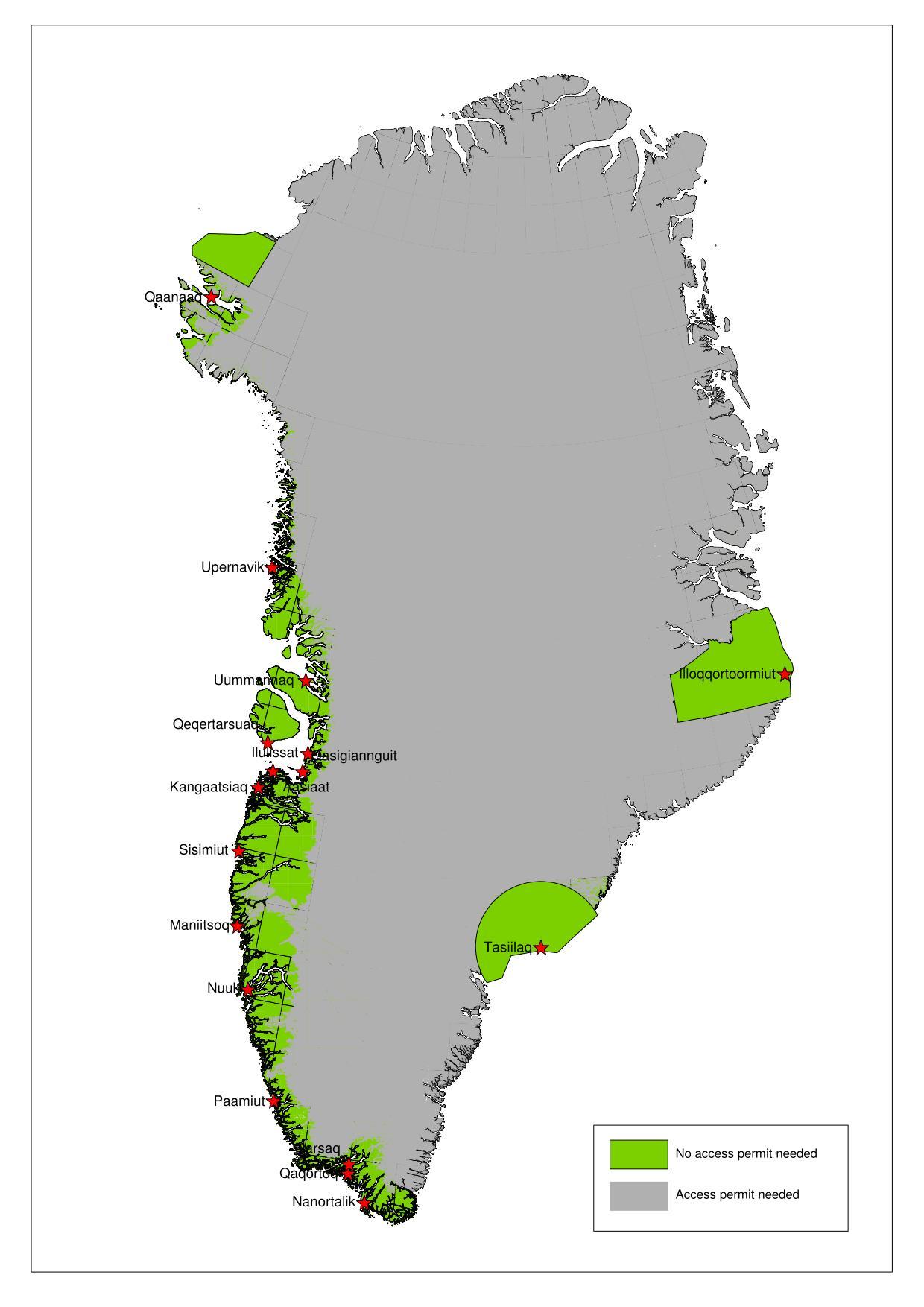 Accès permis Groenland