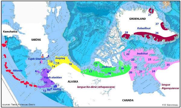 Carte langues inuit