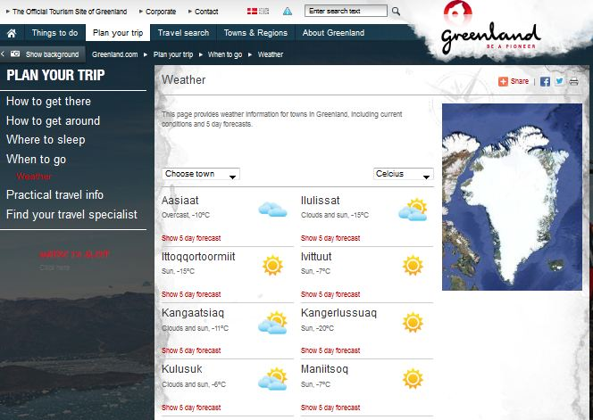 Météo Greenland.com