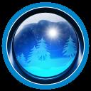 Nature blue icon