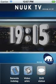 Nuuk TV appli iPhone